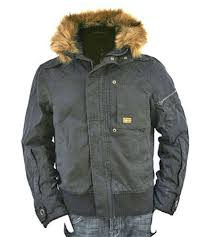 men fur hood jacket