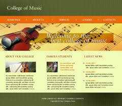 college website templates