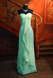 evening gowns green