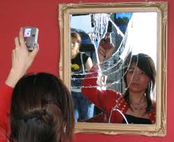 broken mirror art