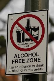 no drinking signs