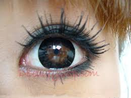 black coloured contact lenses