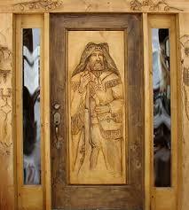 hand carved door
