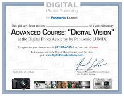 photography certificates