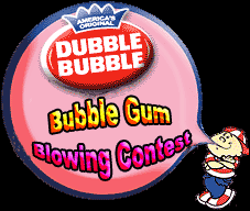 bubble gum blowing contests