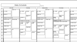 daily schedule format