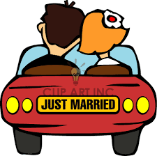 clipart just married