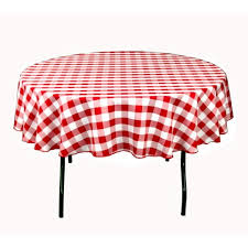 red white check tablecloth