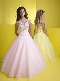 halter ball gown