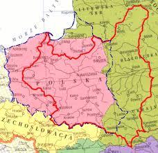 mapa polski przed 1939