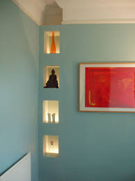 recessed shelving