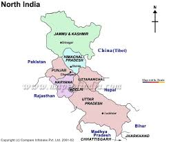 map of north india