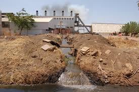 industrial waste pollution
