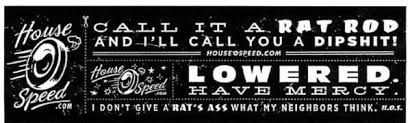 rat rod sticker