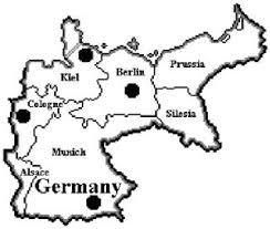 map of germany 1900