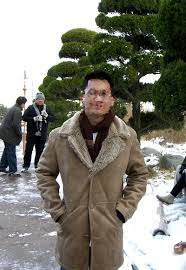 brown winter jacket