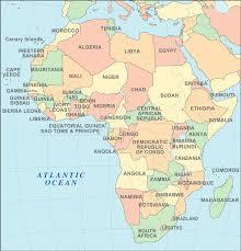 africa capitals map