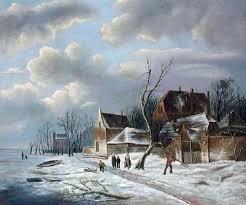 christmas oil paintings