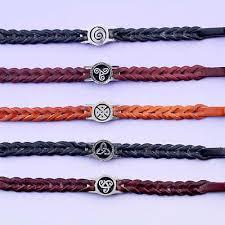 celtic leather wristband
