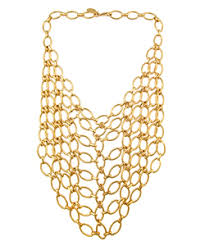 gold link necklaces