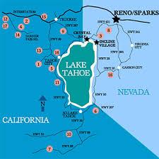lake tahoe ski map