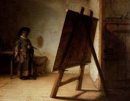 rembrandt artist in his studio