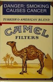 camel cigarette package