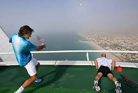 burj al arab hotel tennis