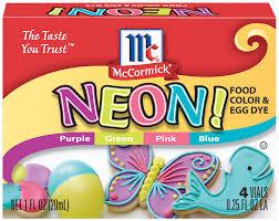neon food color