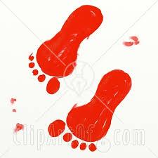 foot prints clipart