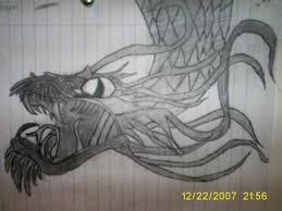 dragon pencil sketch
