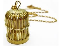 cage necklace