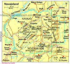 navajo land map