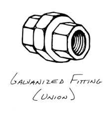 galvanized union