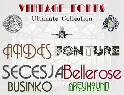 font vintage