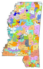 detailed map of mississippi