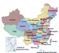 map of china for kids