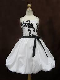 black flowergirl dresses