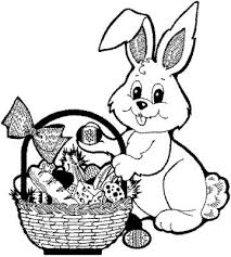 coloring easter bunnies