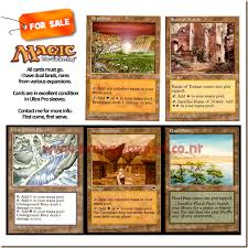magic the gathering land cards