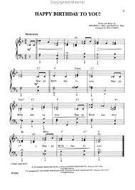 happy birthday song sheet