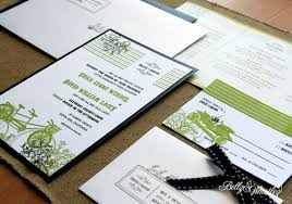 black white and green wedding invitations