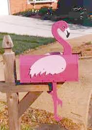 flamingo mailbox