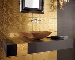 gold bathroom tiles