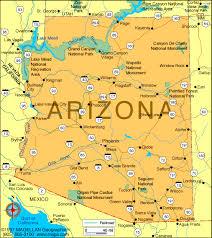 nevada arizona map