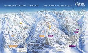 valloire piste map