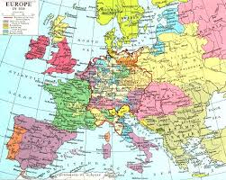 map of europe in english