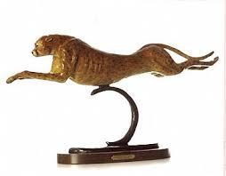 cheetah sculptures