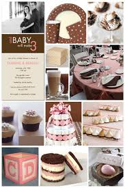 pink and brown baby shower invites