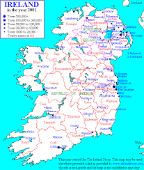 map of ireland towns
